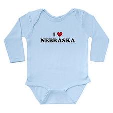 Nebraska.png Long Sleeve Infant Bodysuit