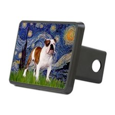 Starry Night English Bulldog Hitch Cover