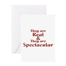 Real & Spectacular Greeting Card