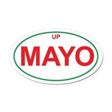 Up Mayo Oval Car Magnet