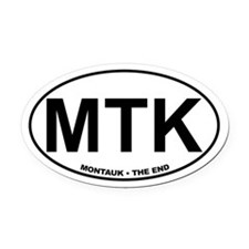 Montauk The End Oval Car Magnet