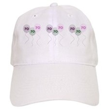 70th Birthday Balloons Baseball Cap