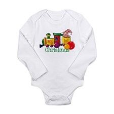 Train 1st Christmas Long Sleeve Infant Bodysuit