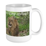 Angry Male Lion wants his coffee - Ceramic Mugs