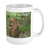 Angry Male Lion wants his coffee - Mug
