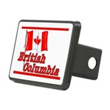Canada Flag - BC Text Hitch Cover