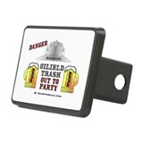 Badass Out To Party Rectangular Hitch Cover