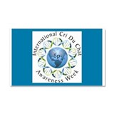 Awareness Logo blue back with Date Car Magnet 20 x