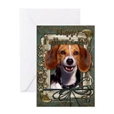 Fathers Day Stone Paws Beagle Greeting Card