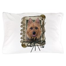 Fathers Day Stone Paws Aussie Terrier Pillow Case