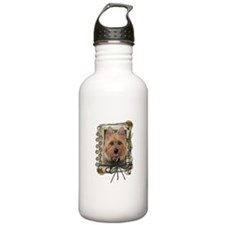 Fathers Day Stone Paws Aussie Terrier Water Bottle