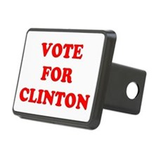 Vote for Clinton Rectangular Hitch Cover