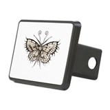 antique gothic moth Rectangular Hitch Cover