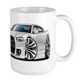 Charger SRT8 White Car Mug