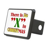 No X In Christmas Rectangular Hitch Cover