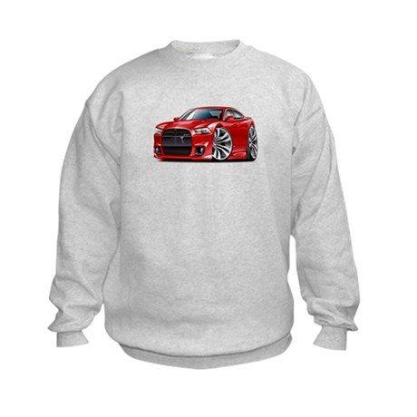 Charger SRT8 Red Car Kids Sweatshirt