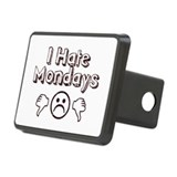 I Hate Mondays Rectangular Hitch Cover
