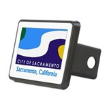 Sacramento CA Flag Rectangular Hitch Cover