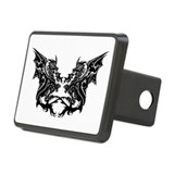 Twin Dragons Rectangular Hitch Cover