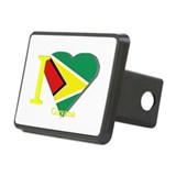 I love Guyana flag Rectangular Hitch Cover
