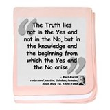 Barth Truth Quote baby blanket