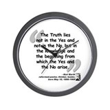 Barth Truth Quote Wall Clock