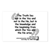 Barth Truth Quote Postcards (Package of 8)