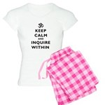 Keep Calm And Inquire Within Women's Light Pajamas