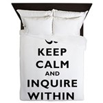 Keep Calm And Inquire Within Queen Duvet