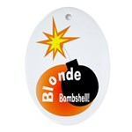 Blonde Bombshell Oval Ornament