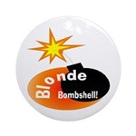 Blonde Bombshell Ornament (Round)