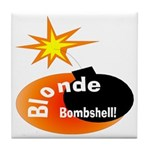Blonde Bombshell Tile Coaster