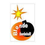 Blonde Bombshell Mini Poster Print