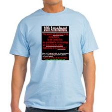 10th Amendment Ash Grey T-Shirt
