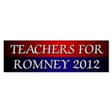 Teachers For Romney 2012 Bumper Bumper Sticker