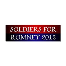 Soldiers For Romney 2012 Car Magnet 10 x 3
