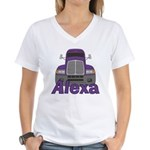 Trucker Alexa Women's V-Neck T-Shirt