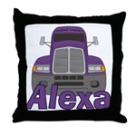 Trucker Alexa Throw Pillow