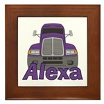 Trucker Alexa Framed Tile