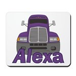 Trucker Alexa Mousepad