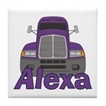 Trucker Alexa Tile Coaster