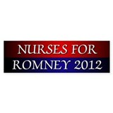 Nurses For Romney Bumper Sticker