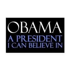 Believe in President Obama Rectangle Car Magnet