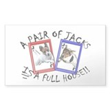 "Jack Russell Terrier ""PAIR OF JACKS"" Bumper Stickers"