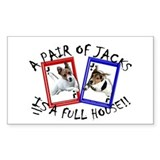 Jack Russell Terrier &quot;PAIR OF JACKS&quot; Decal