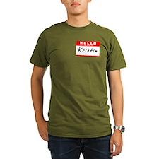 Kristin, Name Tag Sticker T-Shirt