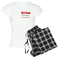 Kristian, Name Tag Sticker Pajamas