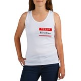 Kristian, Name Tag Sticker Women's Tank Top