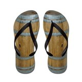 Wine Barrel Flip Flops