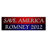 Save America Romney 2012 Car Sticker